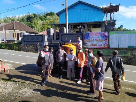 Penyemprotan Disinfektan Keliling Desa Pucaksari